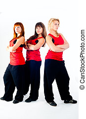 Group of dancing girls