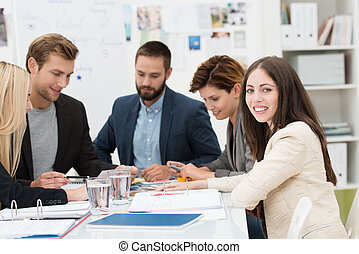 Group of dedicated business professionals