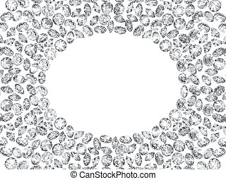 Group of diamonds frame