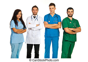 Group of different doctors