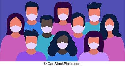 people in medical masks