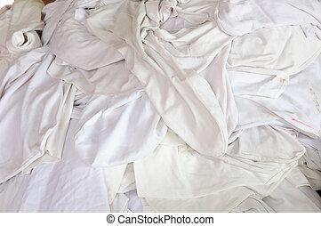 Group of dirty Tablecloths.