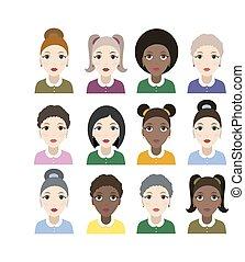 Group of diversity women