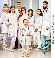 Group of doctor at hospital.