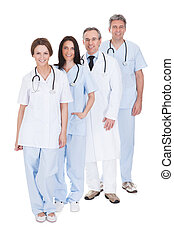 Group Of Doctor Standing In A Row
