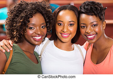 group of female college friends - group of beautiful female...