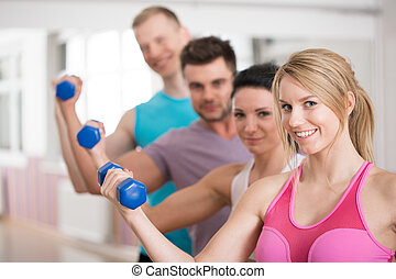Group of fitness instructors