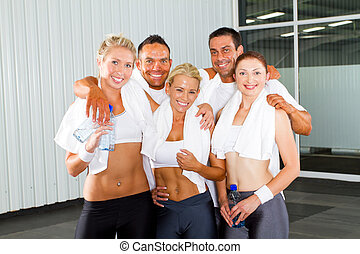 group of fitness people portrait