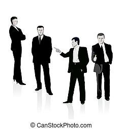 Group of four business people