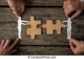 Suitable for business teamwork concept - Group of four...