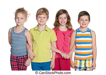 Group of four children