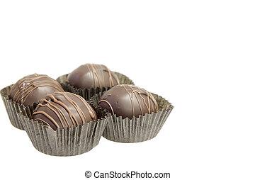 Group of Four Dark Chocolate Truffles