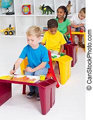 four preschool kids