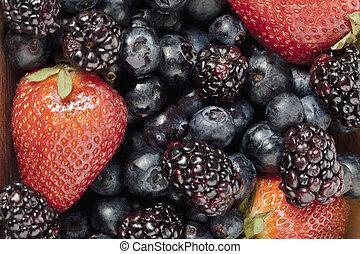 group of fresh berries