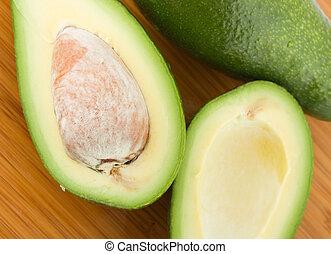 avocado on a bamboo board