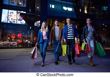 Group Of Friends Enjoying Shopping