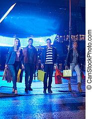 Group Of Friends Enjoying Shopping