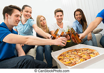 Group Of Friends Having Party