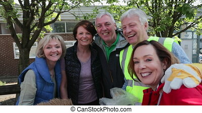 Group of Friends Smiling - A group of five mature adults ...