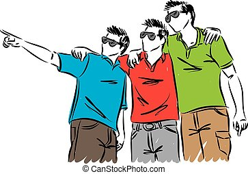group of friends vector illustration
