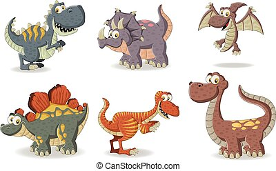 funny cartoon dinosaurs.