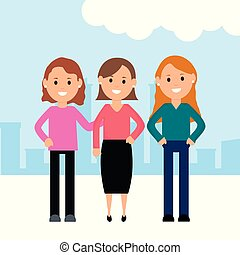 group of girls characters