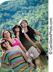 group of girls having fun