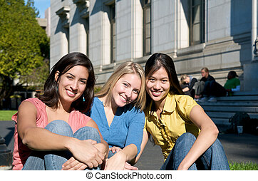 Group of Girls in America