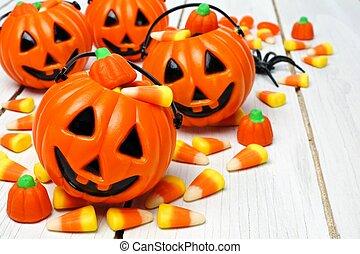 Jack o Lantern candy holder