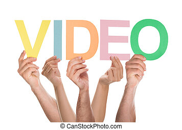 Group Of Hands Holding The Word Video