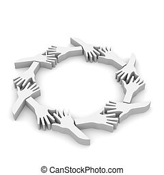 Group of Hands in circle