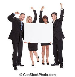 Group of happy business colleagues