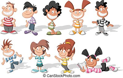 cartoon children