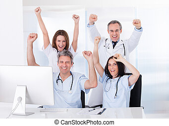 Group Of Happy Doctors