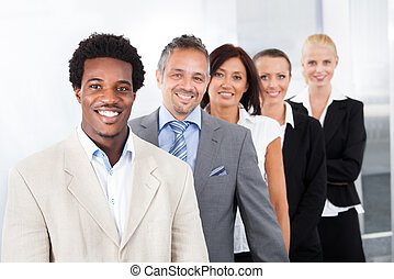 Happy Multiracial Businesspeople