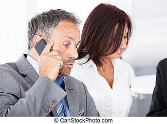 Businesspeople Taking A Break