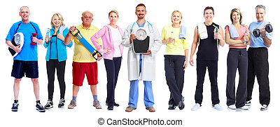 Group of healthy fitness people.