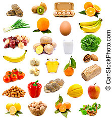 healthy food - group of healthy food with fruits, vegetables...