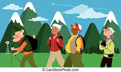 Group of hikers