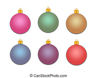 Group of Holiday Ornaments