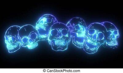 group of human skulls. Human skull design for characters.
