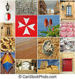 group of images from Malta