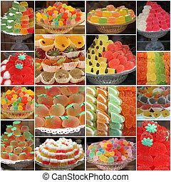 group of images of various gelatin sweets from italian...