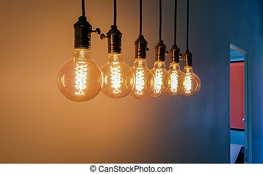 Group of Incandescent bulbs
