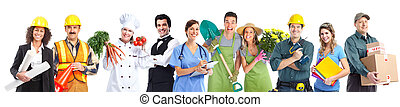 Group of industrial workers people. - Group of professional...