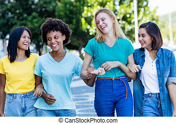 Group of international girls