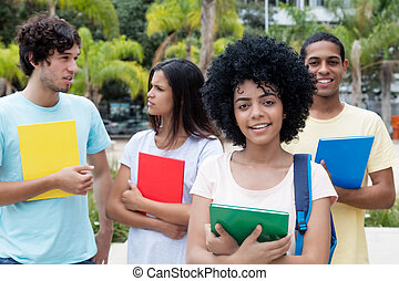 Group of international students on campus