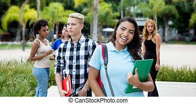 Group of international teenage students
