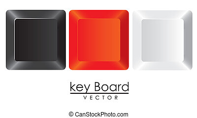 group of keys in colors
