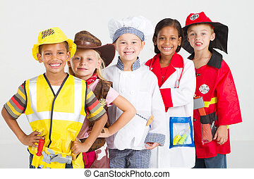 group of kids in uniforms